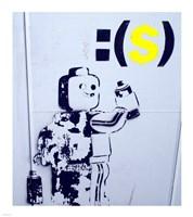 Leggo Man Graffiti - Israel Fine Art Print