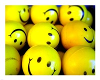 Smiley Face Balls Fine Art Print