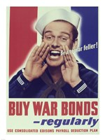 Buy War Bonds Regularly Fine Art Print