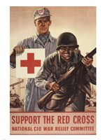 Support the Red Cross Fine Art Print