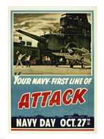 Your Navy First Line of Attack Fine Art Print