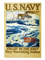 Navy Recruiting Station Fine Art Print