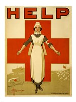 Help, Red Cross Nurse Fine Art Print