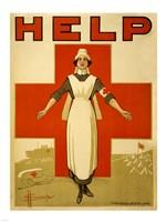 Help, Red Cross Nurse Fine Art Print