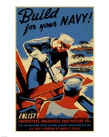Build for Your Navy Fine Art Print