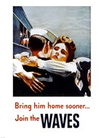 Bring Him Home Sooner Join the Waves Fine Art Print
