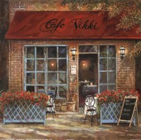 Cafe Nikki Fine Art Print
