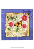 Papillion Plaid II Fine Art Print