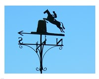 Weathervane Iron Horseman Fine Art Print
