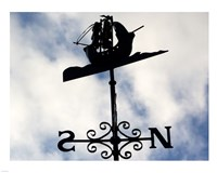 Weathervane Iron Boat Fine Art Print