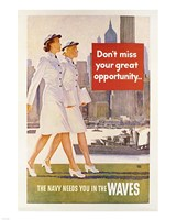 Waves Recruiting Poster Fine Art Print