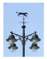Street Light Detail with Weathervane Fine Art Print