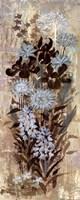 Blue Floral Frenzy I Framed Print
