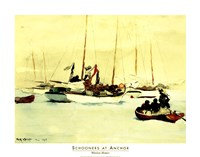 Schooners at Anchor Fine Art Print