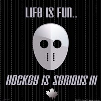 Hockey is Serious Fine Art Print