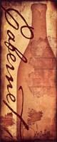 Cabernet - with a bottle Framed Print