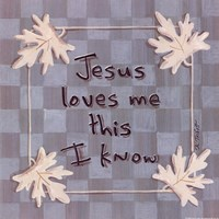 Jesus Loves Me Fine Art Print