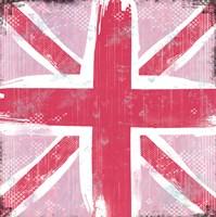 Union Jack Pink Framed Print