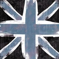 Union Jack Blue And Black Framed Print