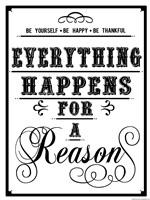 Everything Happens Fine Art Print