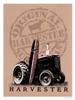 Tractor Surfboard Framed Print