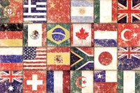 Flags Of The World Fine Art Print