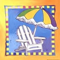 Beach Chair Framed Print