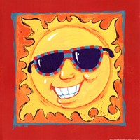 Smiley Sun Framed Print