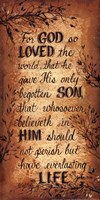 For God So Loved Fine Art Print