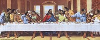Black Last Supper Framed Print