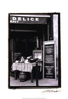 Cafe Charm, Paris IV Framed Print