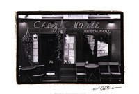 Cafe Charm, Paris V Framed Print