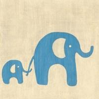 Best Friends- Elephants Framed Print