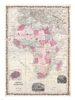 1862 Johnson Map of Africa Fine Art Print