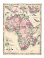1864 Johnson Map of Africa Fine Art Print