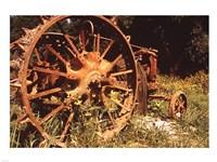 Abandoned Tractor Near Mississippi River Bank Fine Art Print