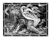 Medieval Dragon I Fine Art Print