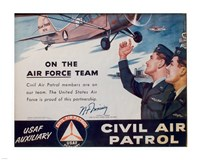 CAP On the Air Force Team Poster Fine Art Print