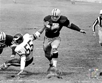 Paul Hornung action Fine Art Print