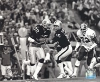 Marcus Allen & Jim Plunkett Super Bowl XVIII Action Fine Art Print