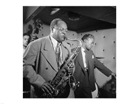 Coleman Hawkins, Miles Davis Fine Art Print