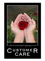 Customer Care Affirmation Poster, USAF Fine Art Print