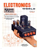 Electronics World September, 1959 Fine Art Print