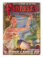 Fantastic Adventures 1949 March Cover Fine Art Print