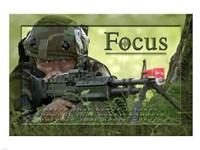 Focus Affirmation Poster, USAF Fine Art Print