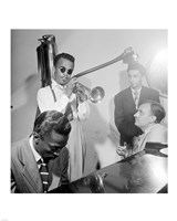 Howard McGhee, Brick Fleagle and Miles Davis, September 1947 Fine Art Print