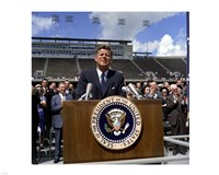 JFK at Rice University Fine Art Print