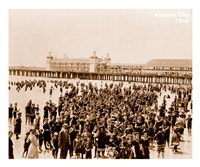 Crowd at Atlantic City 1910 Fine Art Print