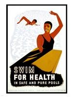 Swim for Health Fine Art Print