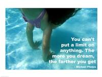 No Limits - Swimming Quote Fine Art Print